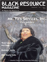 Ms. Vii on the cover of Columbia, SC Black Resource Magazine